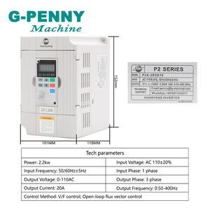Image 3 - G PENNY 2.2KW ER20 水冷スピンドルキット CNC スピンドル 4 ベアリング & 2.2KW インバータ VFD & 80 ミリメートルスピンドルブラケット & 75 ワット水ポンプ