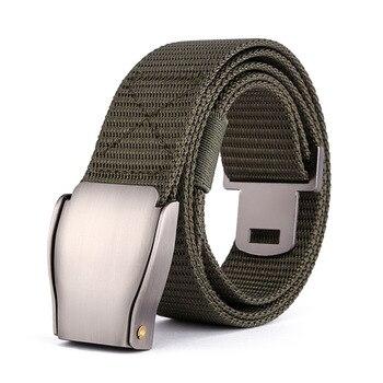 цена на Outdoor Climbing Nylon Quick Dry Belt Cobra Alloy  Buckle  Men's Belt Jeans Pants Tactical Military Equipment Training Belts