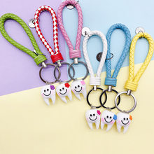 2019 New Creativity Lovely Cartoon Dental Simulation Tooth Pendant Keychain Women Girls Bag Hanging Accessories Gift Keyring(China)