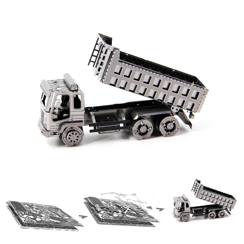 Construction Vehicles Trucks 3D Metal Puzzle Model Kits DIY Laser Cut Assemble Jigsaw Toy Desktop Decoration GIFT For Children