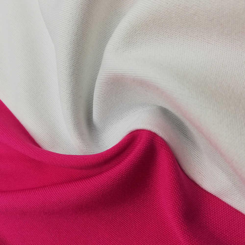 ฤดูใบไม้ผลิ Elegant Bodycon ชุดผู้หญิงลายสีบล็อกสำนักงาน Vestidos แฟชั่น Patchwork สีแดงไนท์คลับชุดลำลอง 2020