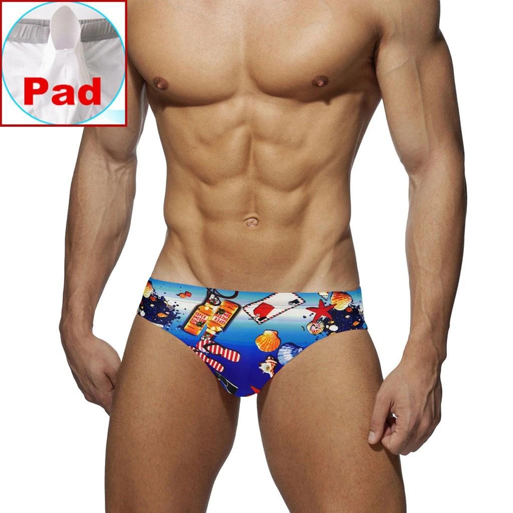 Men/'s Swimsuit Push Up Briefs Beach Shorts Swimming Trunks Sports Surf Swim Wear