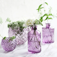 Transparent Tabletop Glass Vase Mini crystal Hydroponic Container Terrarium Plant Flower Pot Vase Home Office wedding Decor transparent tabletop glass vase mini crystal hydroponic container terrarium plant flower pot vase home office wedding decor