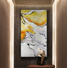 Fashion Wall Art Hand-painted Rich Colors Abstract Oil Painting on Canvas Big Brush Knife Abstract Oil Painting for Living Room(China)