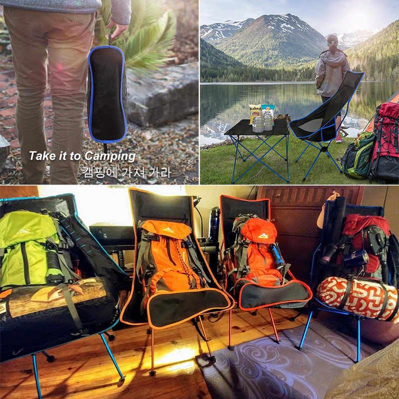 Außen Tragbaren Klappstuhl Maximale Last Von 150kg Ultraleicht Reise Angeln Camping Stuhl Picknick Home Sitz Mond Stuhl 캠핑의자