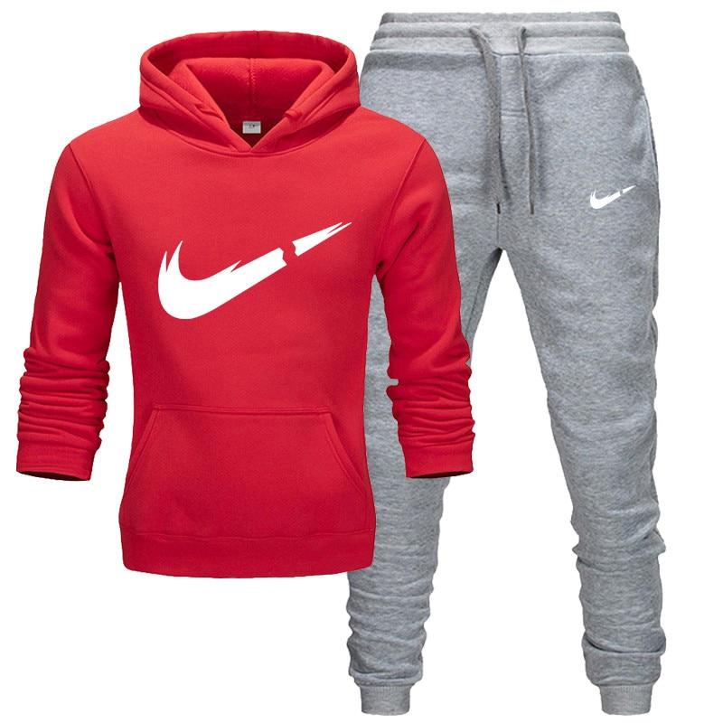 Men's And Women's Autumn And Winter Warm Sweatshirts, Hoodies + Pants Two-piece Men's Casual Sportswear Men, Men's Sweatshirts,