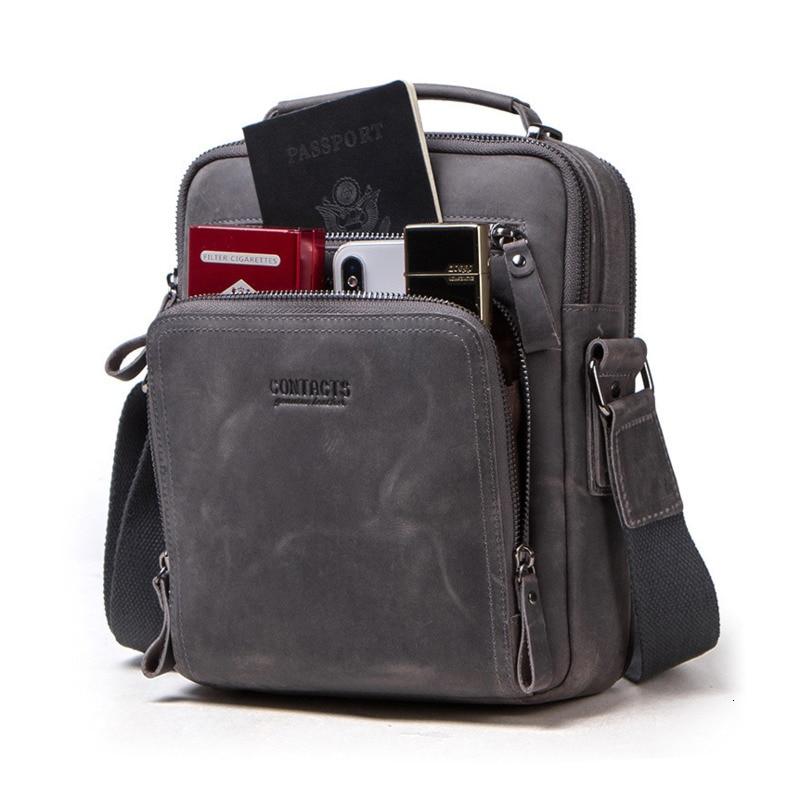 Vintage Classic Briefcase Small Mens Office Bags Natural Cowhide Messenger Bag Men's Shoulder Crossbody Male Genuine Leather Bag