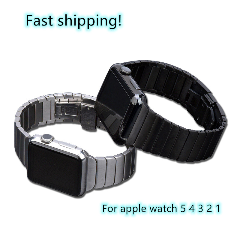 Band for Apple Watch Series 5/4/3/2/1 Sport Bracelet 42 mm 38 mm 44mm Strap For Apple Watch iwatch Band metal loop(China)