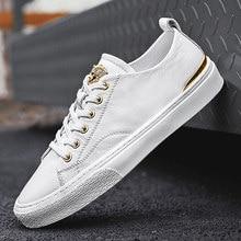 Outono novos homens sapatos planos rendas-up confortáveis sapatos brancos para masculino de alta qualidade sapatos casuais tenis masculino adulto joker simples