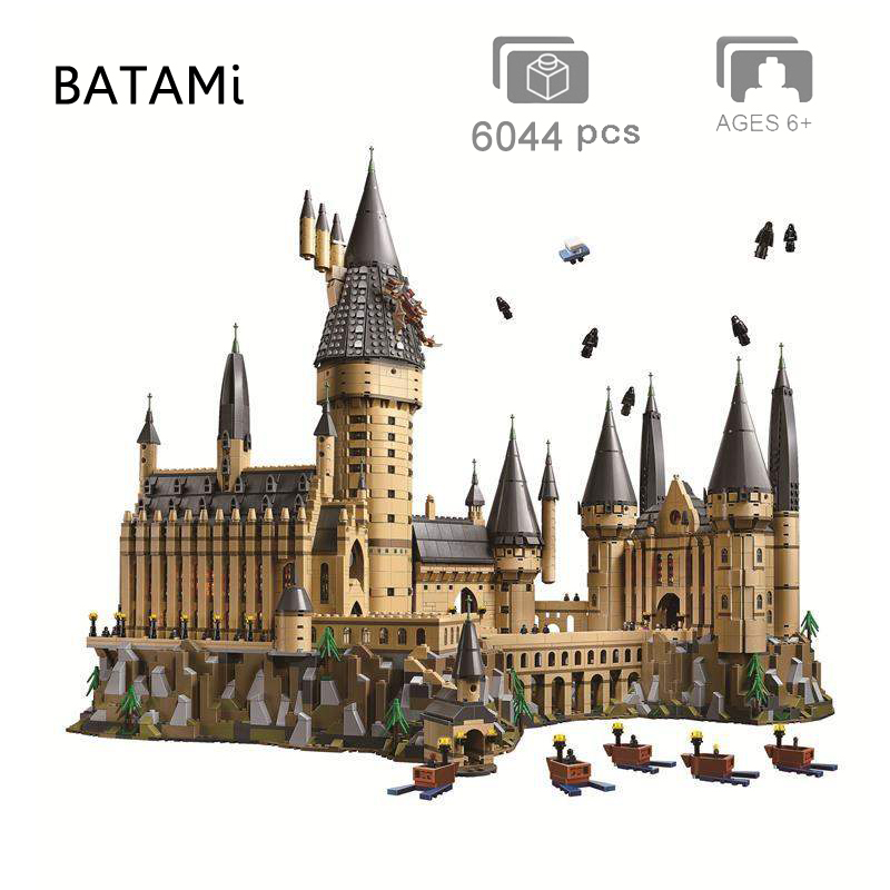 Movie Potter Series Sets Compatible With Building Block Quidditch Hogwarts Great Hall Hagrid's Hut Hogwarts Express MinFigure