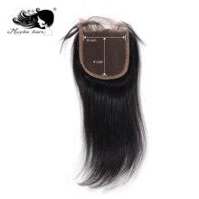 """Mocha Волосы """" X 4"""" Кружева Закрытие бразильские девственные прямые волосы часть 8 дюймов-18 дюймов"""