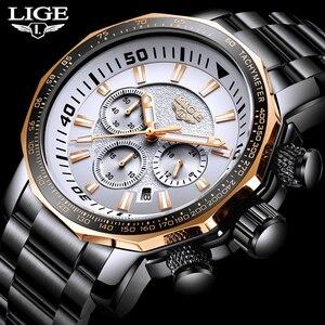 Relogio Masculino 2020 montre hommes LIGE haut marque de luxe Sport Quartz horloge hommes montres mâle militaire étanche Date chronographe(China)