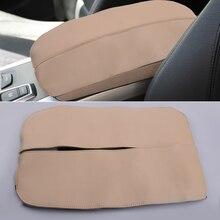 2 Stks/set Beige Armsteun Middenconsole Cover Cap Auto Pu Lederen Fit Voor Bmw X5 E70 X6 E71 2008 2009 2010 2011 2012 2013