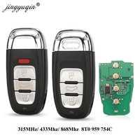 Jingyuqin Smart Remote Key Keyless 3/4 Taste 315 MHz/433 MHZ/868 MHZ 8T0 959 754C für Für audi Q5 A4L A5 A6 A7 A8 RS4 RS5 S4 S5