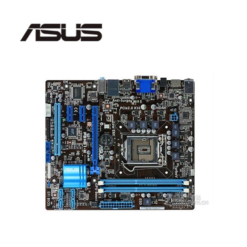 For ASUS P8H61-M Desktop Computer Motherboard LGA 1155 DDR3 For Intel H61 P8H61 Desktop Mainboard  SATA II  Used