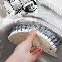 Гибкие мягкие чистящие принадлежности кухонная плита раковина ванна плитка ванная комната обувь щетка не мертвый угол Чистящая Щетка для пола