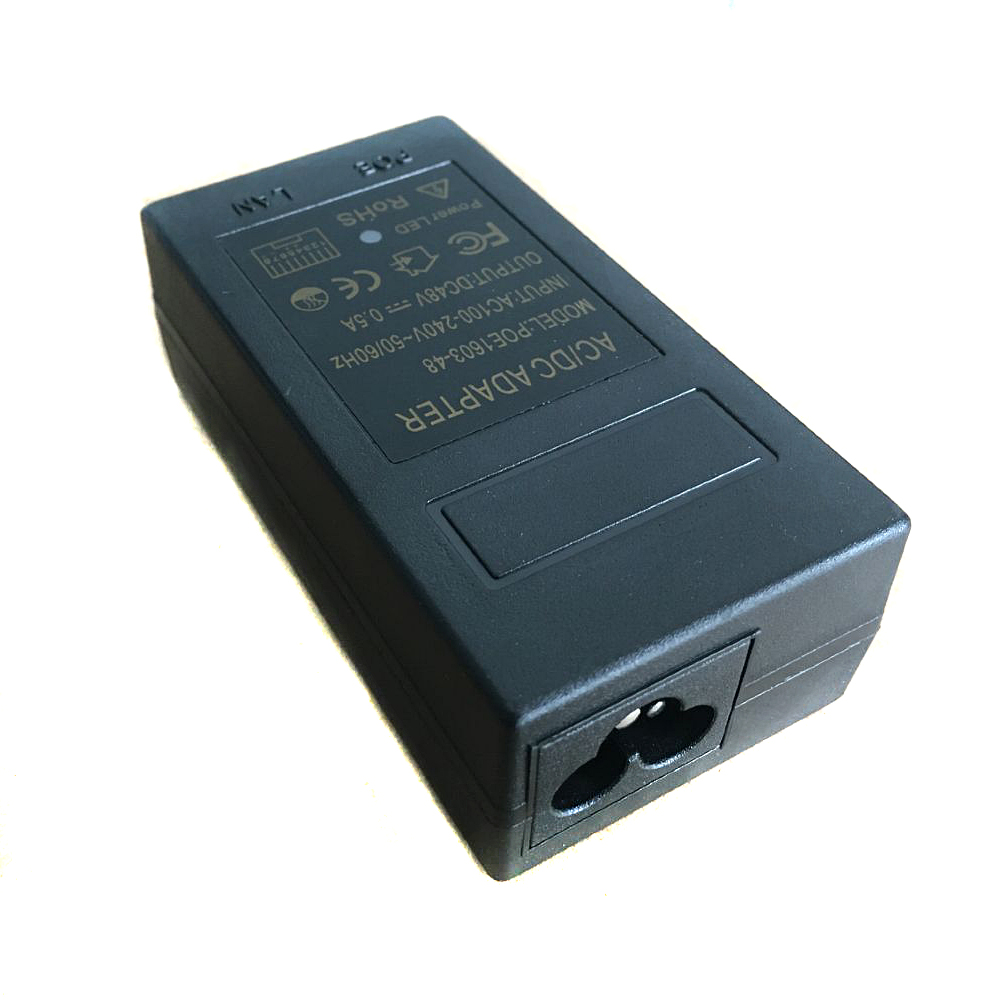 Купить с кэшбэком YiiSPO CCTV Security 48V0.5A 15.4W POE adapter  POE Injector Ethernet power for POE IP Camera Phone PoE Power Supply EU Plug
