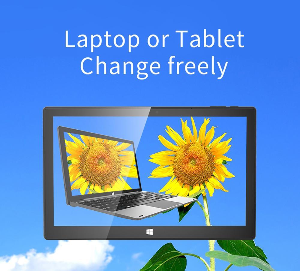 """Jumper EZpad  Pro 8 2 In 1 Tablet PC 11.6"""" IPS 1080P Laptop With Keyboard N3450 Quad Core 8GB DDR4 128GB Windows 10 EU Plug"""