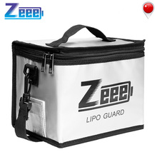 Zeee Lipo Battery Safe Bag 215*145*165mm Fireproof Explosionproof Bag RC Lipo Battery Guard Safe Portable Storage Handbag