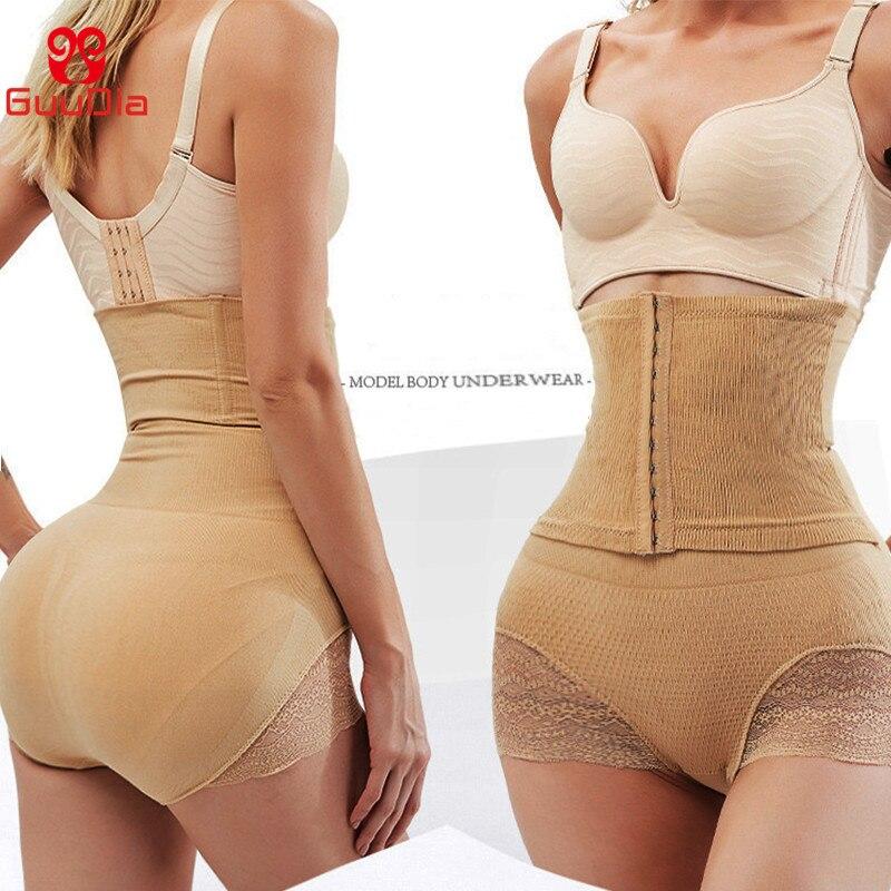 GUUDIA Tummy Control mutandine donna Body Shaper vita alta Shaper pantaloni senza cuciture Shapewear mutandine Postpartum allenatore in vita 2
