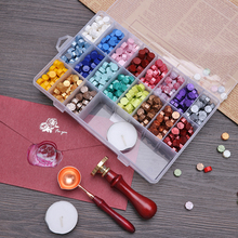 Tablet-Set Scrapbooking Wax with Spoon Sealing-Stamp for DIY Wedding-Decorative Invitation