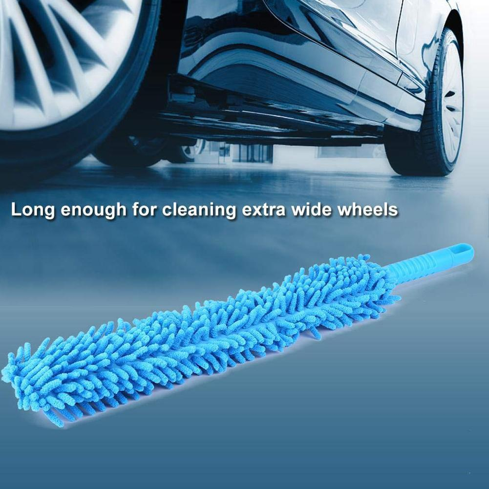 Flexible Extra Long Soft Microfiber Chenille <font><b>Car</b></font> <font><b>Wheel</b></font> <font><b>Brush</b></font> <font><b>Wheel</b></font> Accessorie Wash Wash Microfiber <font><b>Car</b></font> <font><b>Cleaner</b></font> K8T9 image