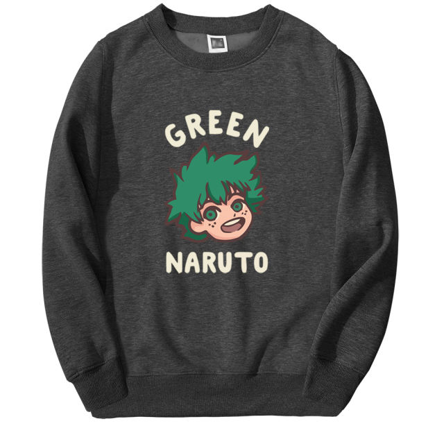 GREEN NARUTO THEMED SWEATSHIRT