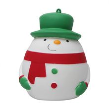 Decompression PU Squeeze Toy Christmas Snowman Model Slow Rising Stress Reliever R9UE cute simulation animal pu squishy slow rising simulation squeeze decompression kawaii unicorn squish toy stress reliever