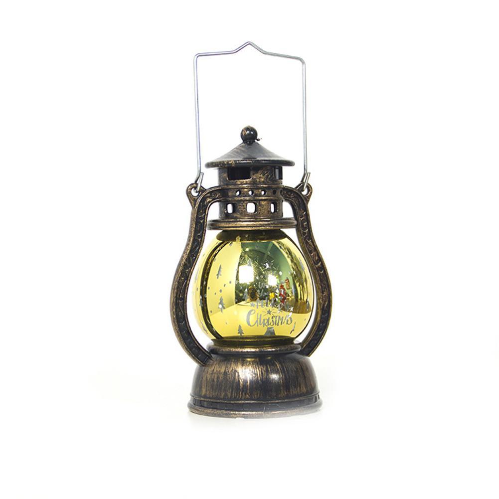 Светодиодный фонарь, Рождественский светильник, подсвечивающий свет для дома, винтажный Ретро праздничный фестиваль, Рождественское украшение, крытая наружная лампа - Испускаемый цвет: Yellow
