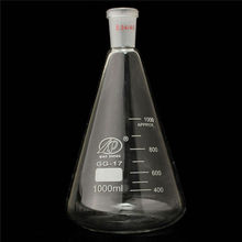 1000ml 24 / 40 Glass Erlenmeyer Flask Pro Conical Bottle Lab Chemistry Glassware 500ml 24 40 glass erlenmeyer flask chemistry conical bottle lab glassware