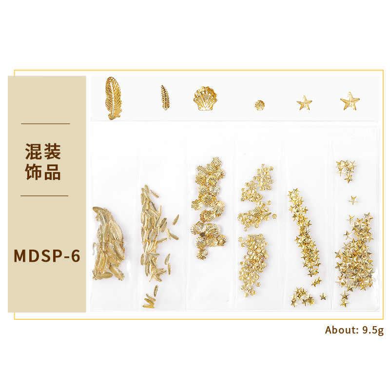 Fashion 13 Gaya 3D Golden Geometri Kuku Seni Polandia Lacquer Hybrid Tahan Lama Manikur Kuku Seni Dekorasi Cat Kuku MDSP1
