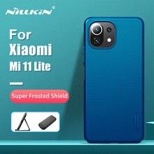 Xiaomi Mi için 11 Lite kılıf için Mi 11 Lite 5G NILLKIN süper buzlu kalkanı durumda sert plastik arka kapak için Xiaomi Mi 11 Pro kılıf