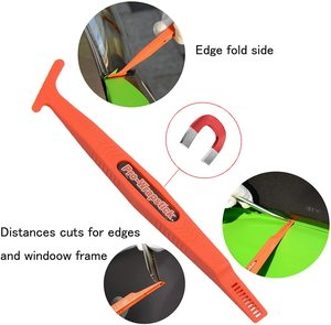 Image 4 - FOSHIO Kit di strumenti per avvolgimento in vinile in fibra di carbonio accessori per auto tinta per vetri involucro morbido raschietto PPF tergipavimento pulito pala per acqua coltello