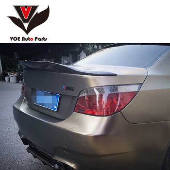 E60 M5 R-style Carbon Fiber Sporty Rear Trunk Wing Boot Spoiler for BMW 2005-2010 5-Series E60 M5 image