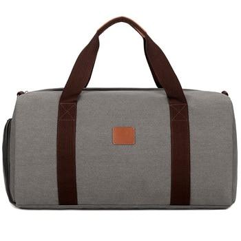 Men Canvas Travel Bag Portable Travel Duffle Bag Women Travel Luggage Bag Casual Weekend Hand Bag Bags & Shoes