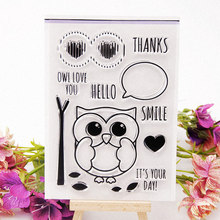 CLEAR STAMPS Lovely Owl Cute Transparent Stamps for DIY Scrapbooking Card Making Photo Album paper Craft Decoration New