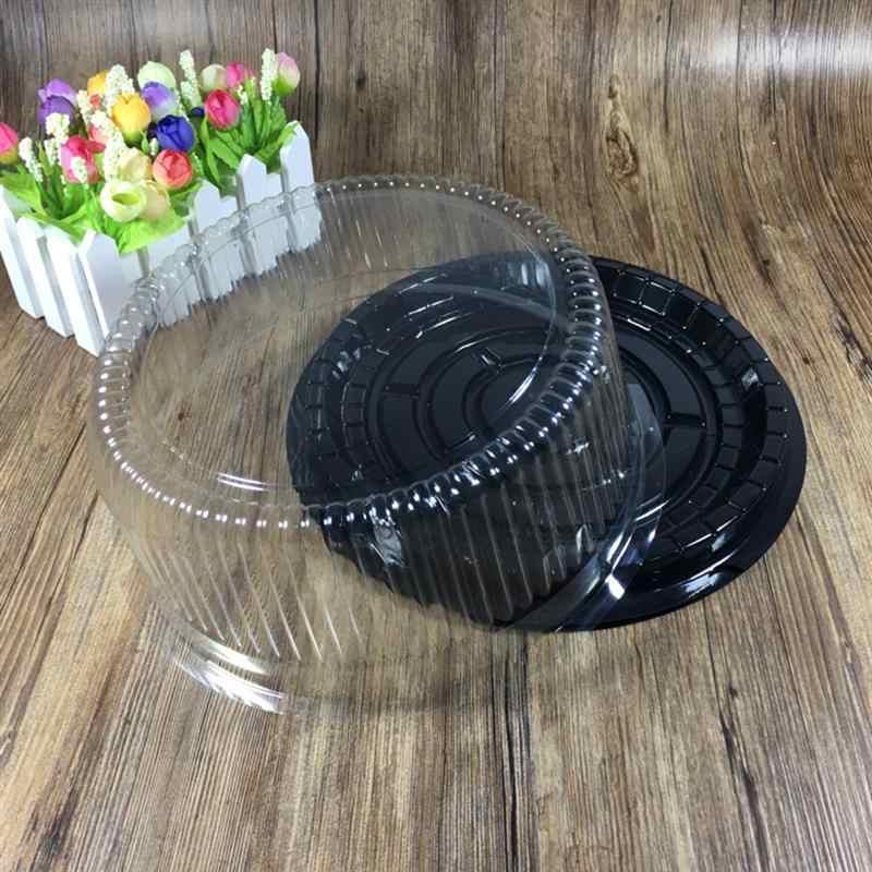 10Pcs 10.5 นิ้วใสพลาสติกเค้กขนมอบกล่องคัพเค้กมัฟฟินโดมกล่อง Home PARTY คัพเค้กถ้วยเบเกอรี่