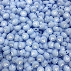 100 шт./лот 7 мм акриловые разделенные бусины, флуоресцентные круглые бусины в форме сердца для изготовления ювелирных изделий DIY, Подвески ручной работы, браслета|Бусины|   | АлиЭкспресс