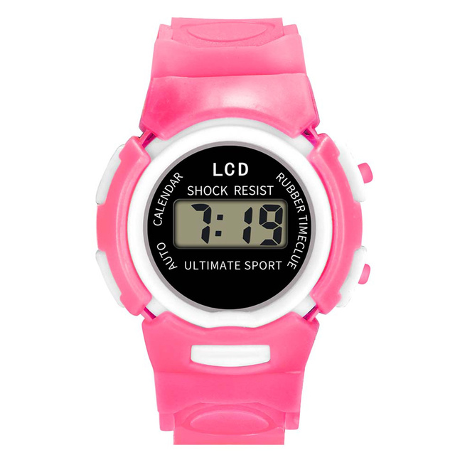 Newly Fashion and Durable Kids Casual Electronic Watch Children Comfortable Silicone Sports Cute Watches DOD886