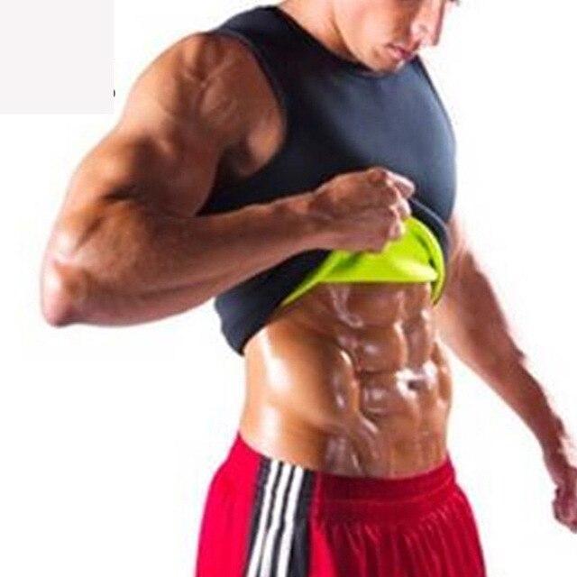 Men Neoprene Slimming Vest Hot Gym Power Belt Body Shapewear Running Tank Top Men Abdomen Shaper Shirt Fitness Sports Sweat Vest 1