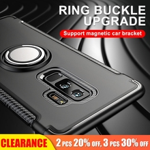 [Clearance] For Samsung J7 Luxury Metal Ring Bracket Protect Case 2016 Hard PC+Soft Silicone Full Back Cover