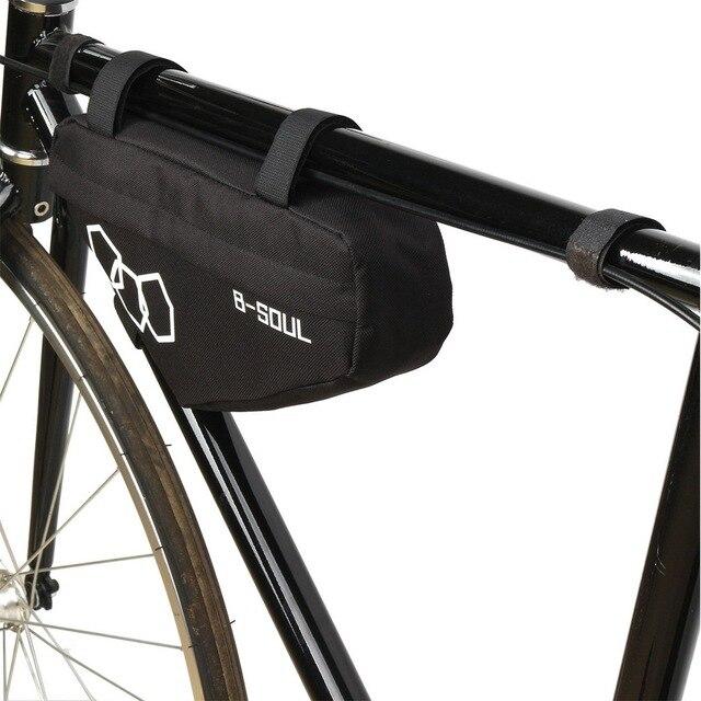Фото водонепроницаемая велосипедная треугольная сумка передняя рама