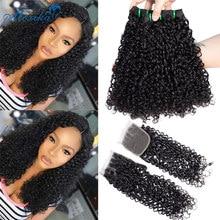 Волнистые волосы Moxika Fumi, волнистые кудри, пучки с застежкой, двойные пряди, индийские волнистые кудри, человеческие волосы, пучки с застежко...