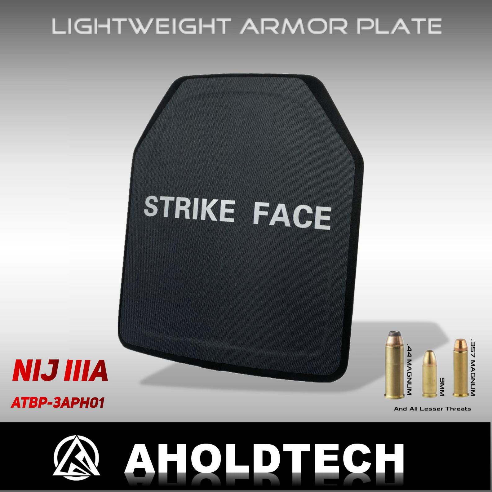 Aholdtech Genuine ISO NIJ IIIA 3A Lightweight Fabric Cover Hard Armor Bulletproof Ballistic Plate For Army Combat Police Airsoft