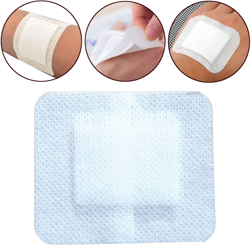 10PCS/Lot Large Size Hypoallergenic Non-Woven Adhesive Wound Dressing Band Aid Bandage Large Wound First Aid 6*7cm