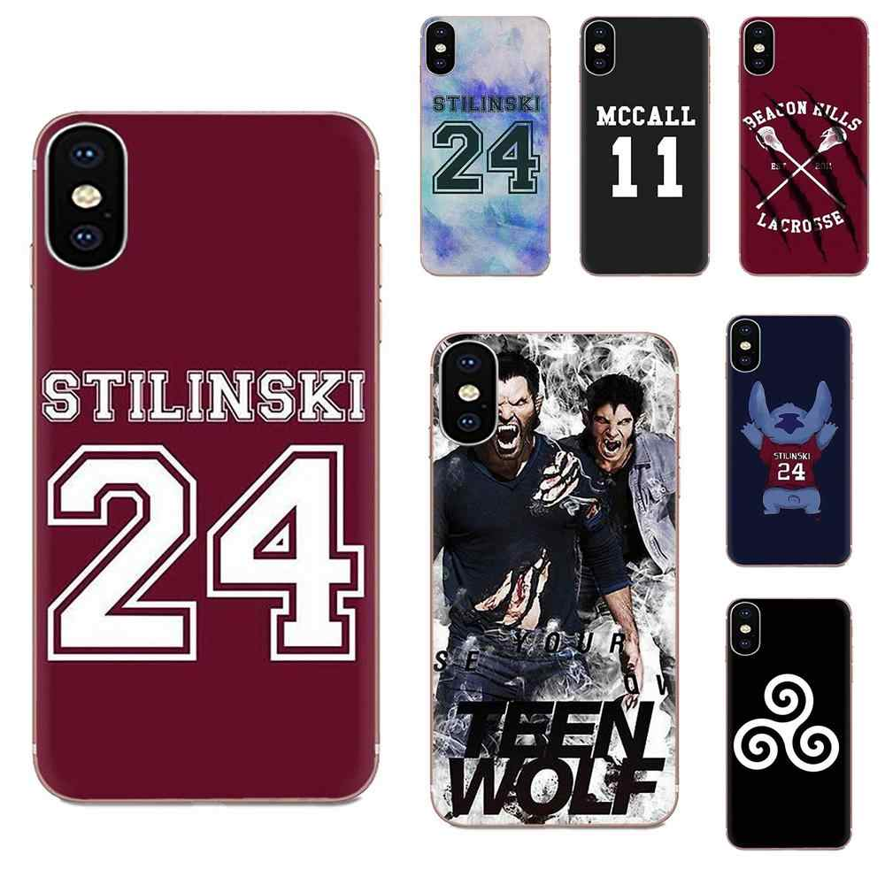 Soft TPU Coque Teen Wolf Stilinski For Apple iPhone 4 4S 5 5C 5S ...