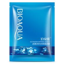 10Pcs BIOAQUA Ice Fountain Face Mask Whitening Cool Hydrating Moisturizing Oil Control Koreas Repair Facial Skin Care