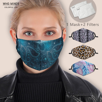 Bandana Reusable Mouth Mask Washable Face Mask With Filter Anti Windproof Mouth-muffle Bacteria Flu Mask
