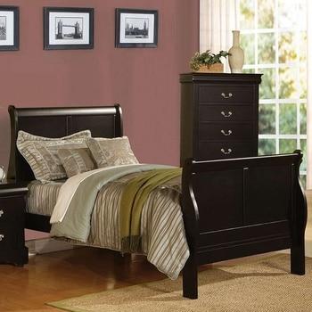 Modern Twin Bed In Black  1