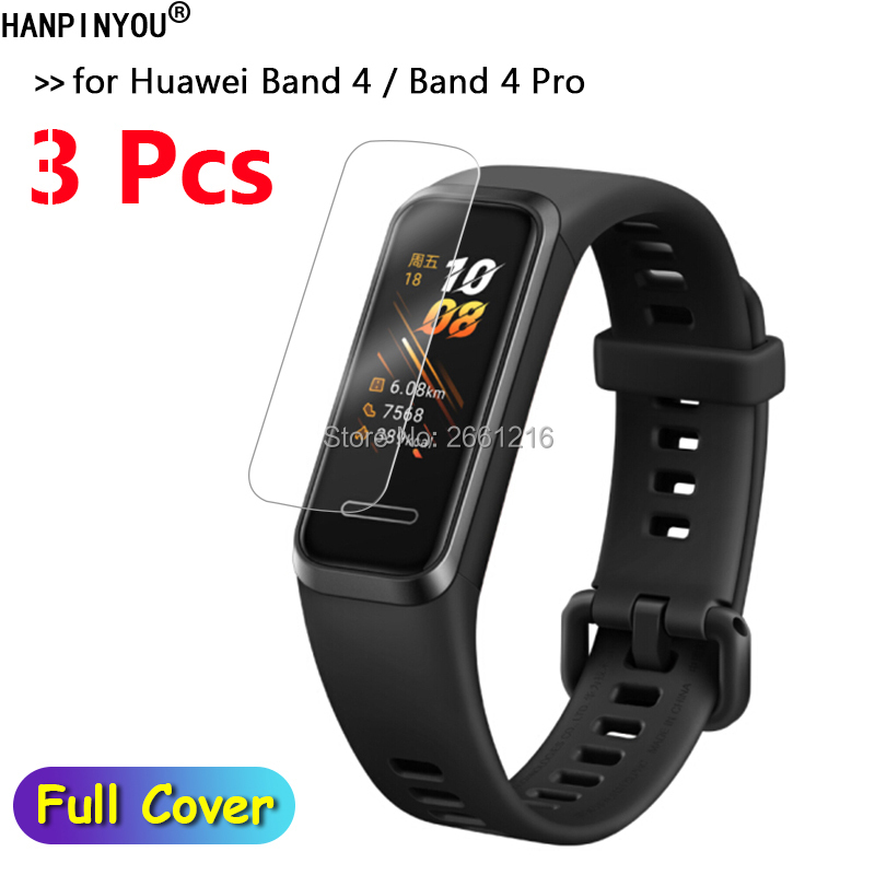 3Pcs/Lot For Huawei Band 4 Band4 Pro Wrist Band HD Clear Soft TPU Hydrogel Full Cover Film Screen Protector (Not Tempered Glass)